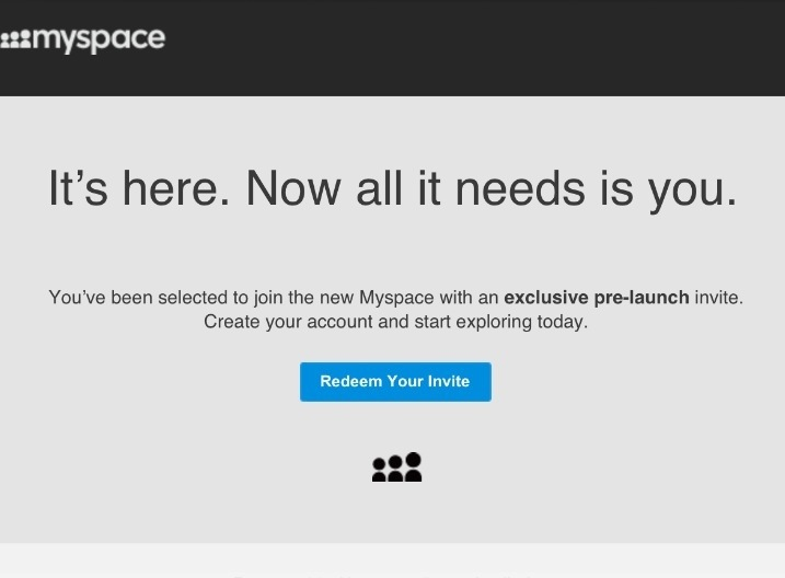 MySpace is back… Again.