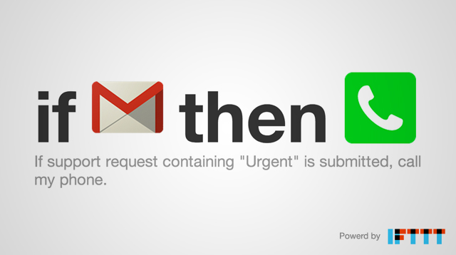 Get notified of urgent support issues with IFTTT